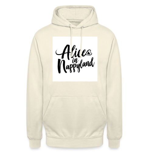 Alice in Nappyland Typography Black 1080 1 - Unisex Hoodie
