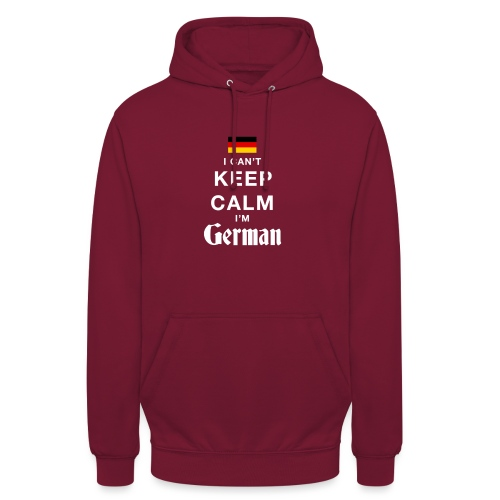 I CAN T KEEP CALM german - Unisex Hoodie