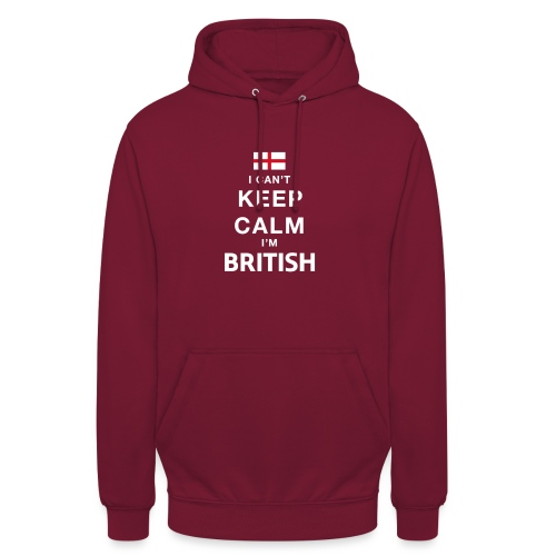 I CAN T KEEP CALM british - Unisex Hoodie