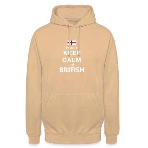 I CAN T KEEP CALM british - Unisex Hoodie