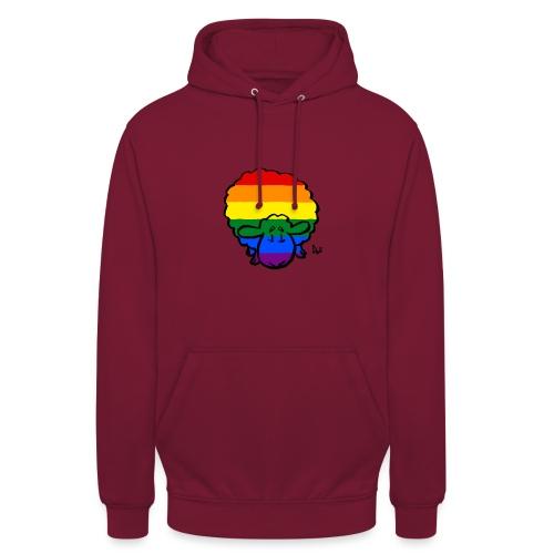 Rainbow Pride Sheep - Felpa con cappuccio unisex