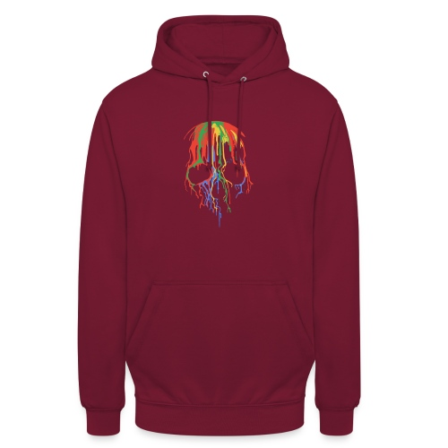 Skull and Colours - Sudadera con capucha unisex