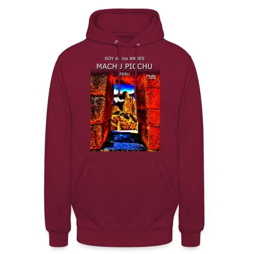 SOY de los ANDES - Machu Picchu II - Sweat-shirt à capuche unisexe