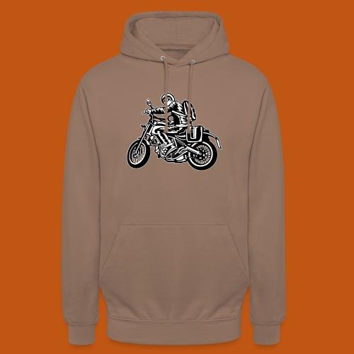 Motorrad Touring / Motorcycle 01_schwarz weiß - Unisex Hoodie