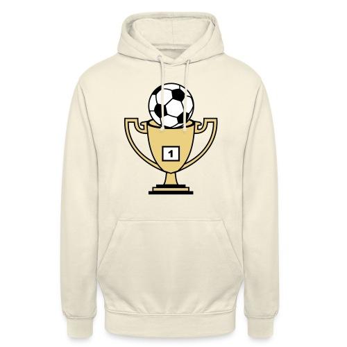 Pokal mit Fussball - Unisex Hoodie