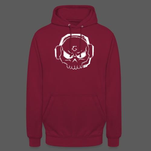 Gamer Skull Logo WHITE - Unisex Hoodie