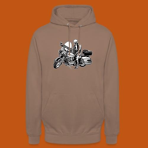 Chopper / Motorrad 05_schwarz weiß - Unisex Hoodie