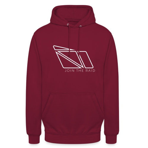 Join the Raid - White Lines - Unisex Hoodie