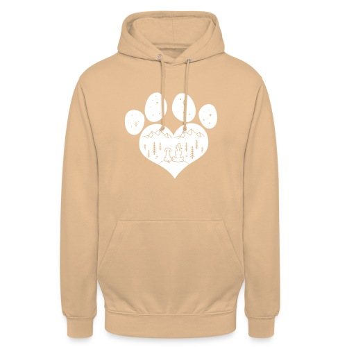 dog girl outdoor pawheart - Unisex Hoodie