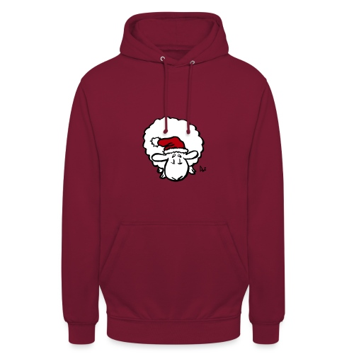 Santa Sheep (red) - Sweat-shirt à capuche unisexe