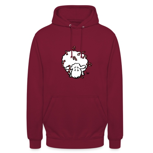 Candy Cane Sheep - Unisex Hoodie