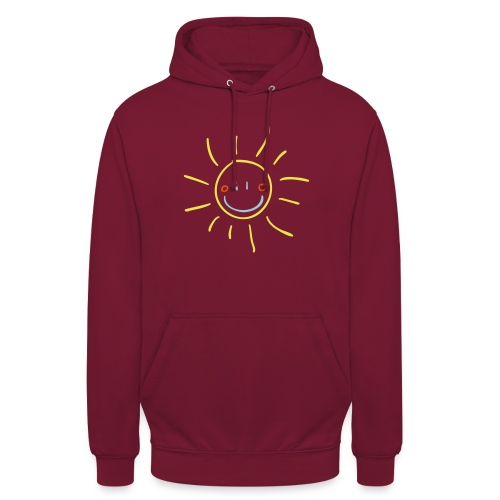 Sun Child s Drawing Pixellamb - Unisex Hoodie
