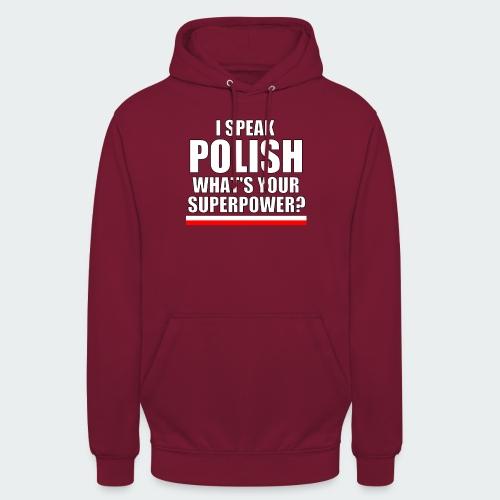 Damska Koszulka Premium I SPEAK POLISH - Bluza z kapturem typu unisex