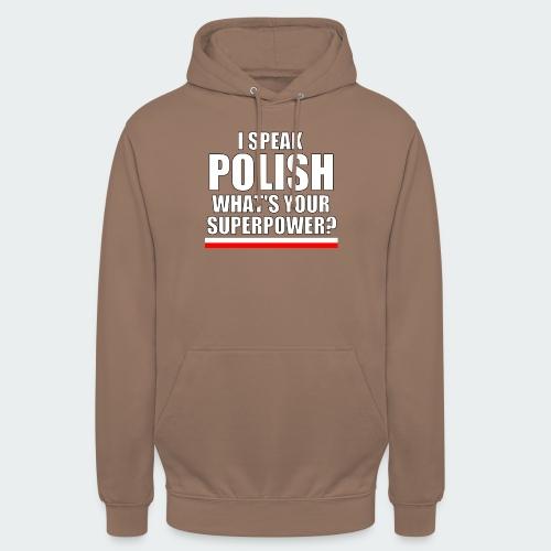 Męska Koszulka Premium I SPEAK POLISH - Bluza z kapturem typu unisex