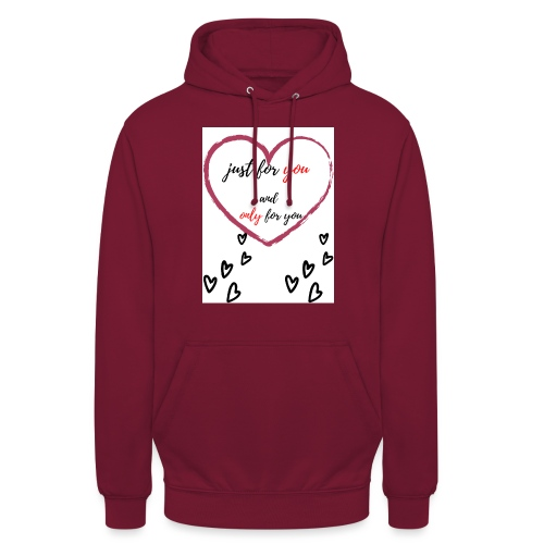 just for lovers design - Hoodie unisex