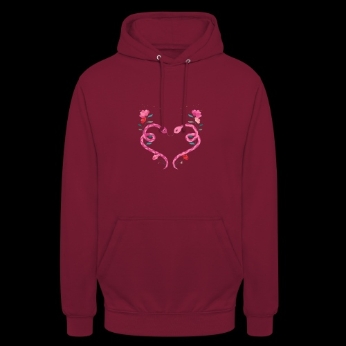 Coeur de serpents - Sweat-shirt à capuche unisexe