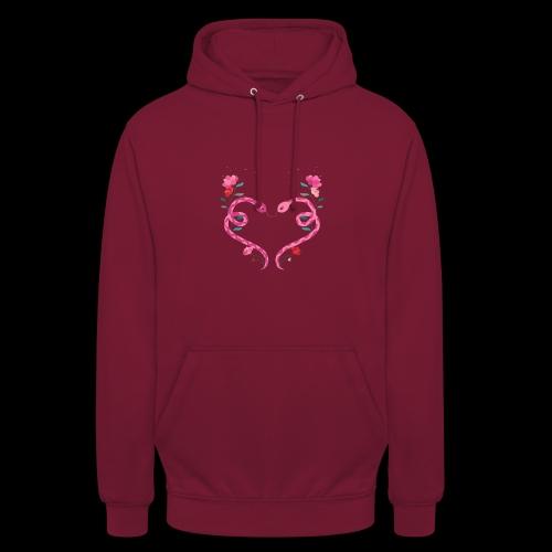 Coeur de serpents - Sweat-shirt à capuche unisexe