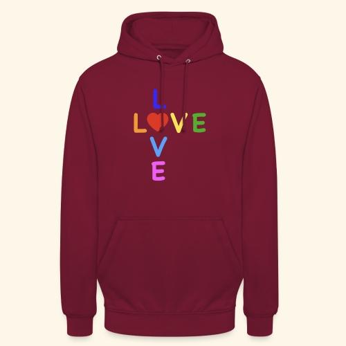 Rainbow Love. Regenbogen Liebe - Unisex Hoodie