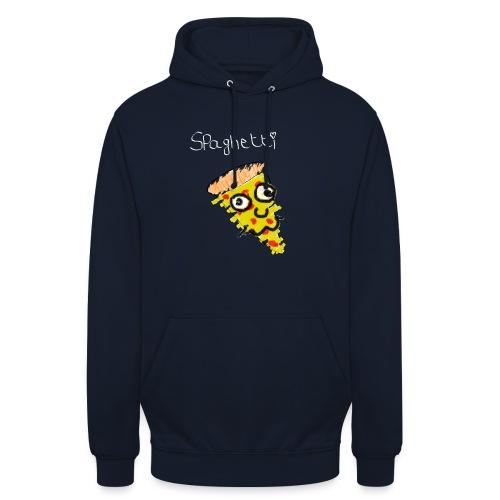 spaghetti (witte tekst) - Hoodie unisex