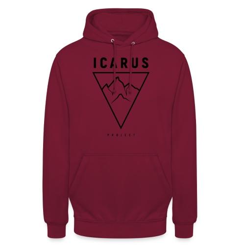 LOGO ICARUS noir - Sweat-shirt à capuche unisexe