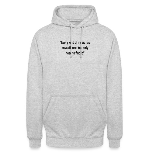 Quote RobRibbelink audiance Phone case - Unisex Hoodie