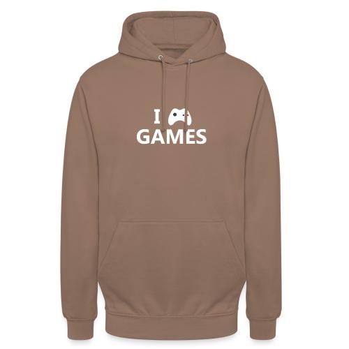 I Love Games 2 - Sudadera con capucha unisex