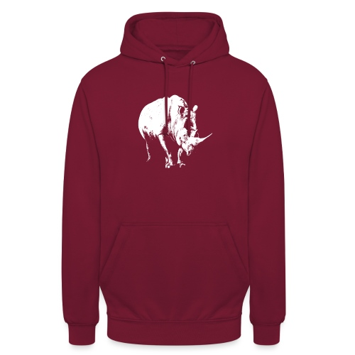White Rhinoceros (highlights only) - Unisex Hoodie