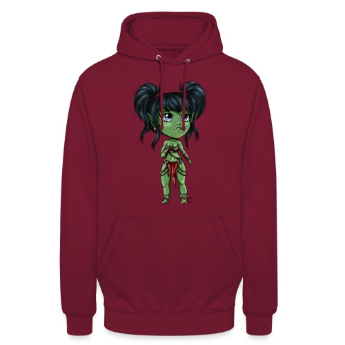 Chibi Orc Girl - Sweat-shirt à capuche unisexe