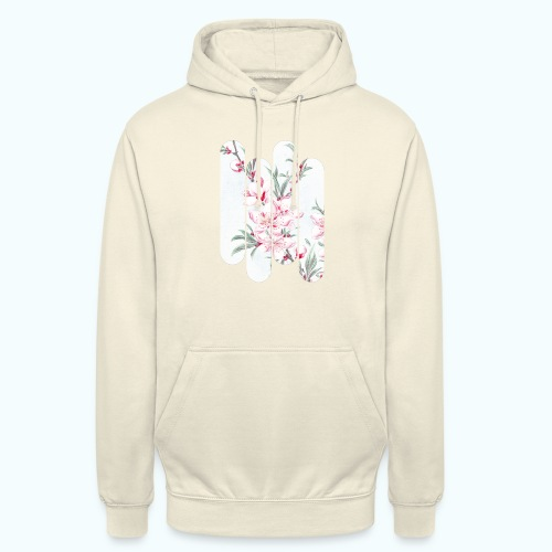 Vintage Japan watercolor flowers - Unisex Hoodie
