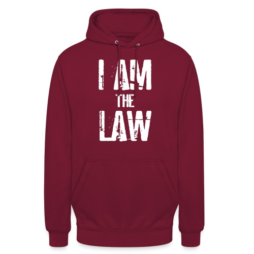 I AM THE LAW. Judge t-shirt per giudice o avvocato - Unisex Hoodie