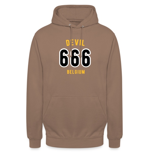 666 devil Belgium - Sweat-shirt à capuche unisexe