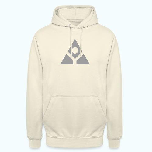 Sacred geometry gray pyramid circle in balance - Unisex Hoodie