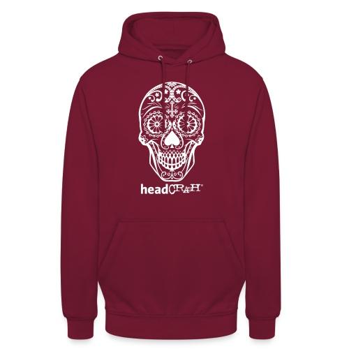 Skull & Logo white - Unisex Hoodie
