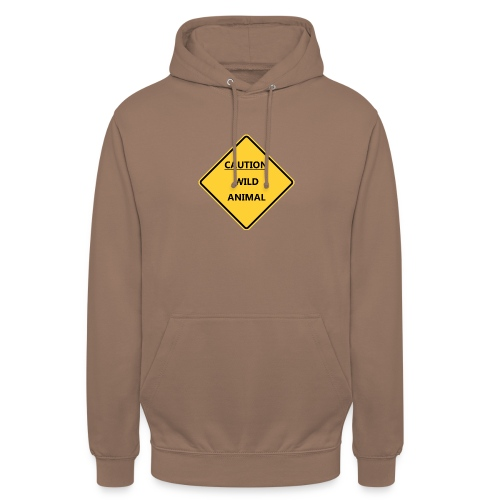 Caution Wild Animal - Sweat-shirt à capuche unisexe