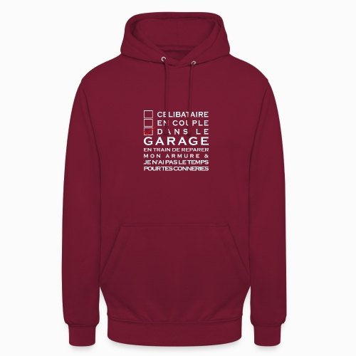 Celibataire en couple etc - Sweat-shirt à capuche unisexe