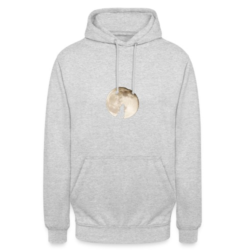 The wolf with the moon - Sweat-shirt à capuche unisexe