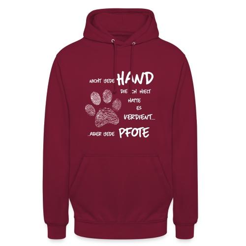 Vorschau: Hand Pfote Hund - Unisex Hoodie