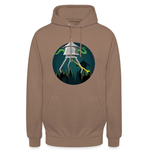 Aliens from The War of the Worlds - H. G. Wells - Felpa con cappuccio unisex