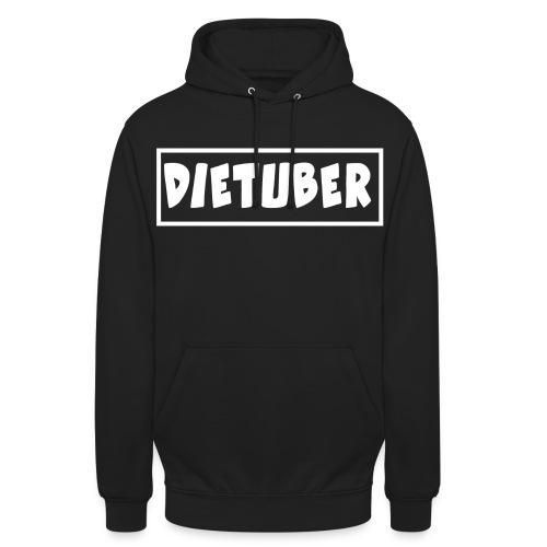 DieTuber Logo weiss - Unisex Hoodie