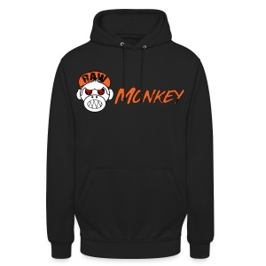 Raw Monkey Logo - Sweat-shirt à capuche unisexe