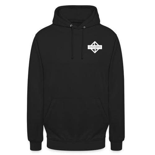 WRAP logo blanc - Sweat-shirt à capuche unisexe