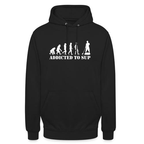 Evolution Addicted to SUP White - Sweat-shirt à capuche unisexe