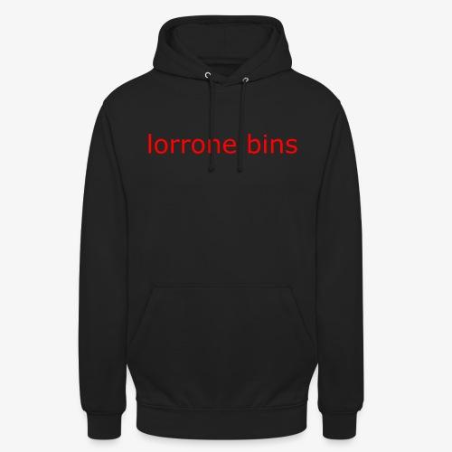 lorrone bins simple - Unisex Hoodie