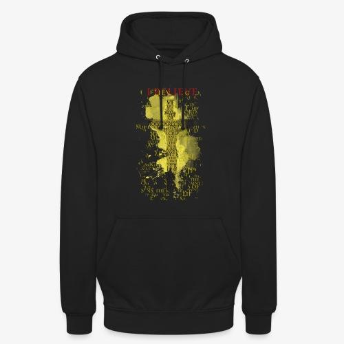 I believe / wierzę (yellow-żółty) - Bluza z kapturem typu unisex