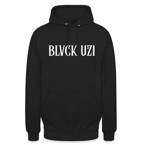 Blvck Uzi (Black Clothes) - Sweat-shirt à capuche unisexe