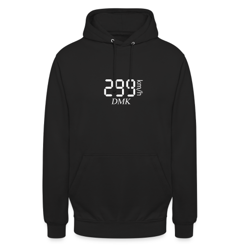 299KM/H DMK BLANC - Sweat-shirt à capuche unisexe
