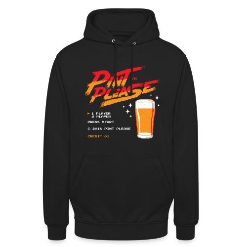 Pint Please Beer App - 8-bit Game Logo - Unisex Hoodie