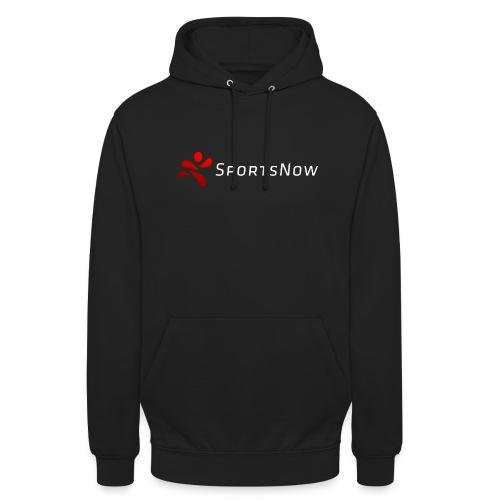 SportsNow-Logo mit weisser Schrift - Unisex Hoodie