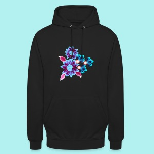 Hypnotic flowers - Sweat-shirt à capuche unisexe