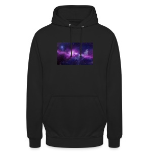 tshirt galaxy - Sweat-shirt à capuche unisexe